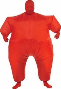 Inflatable Skin Suit Adult Red Costume