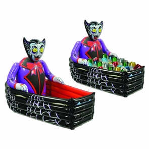 Inflate Vampire Coffin Cooler Costume