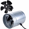Inline Duct Booster Vent Aluminum Blade Fan Blower 4 inch 120 CFM W/Metal Blade