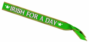 Irish For A Day Satin Sash Costume