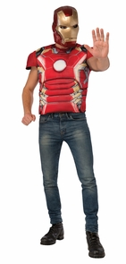 Iron Man Mark 43 T-shirt & Mask Costume