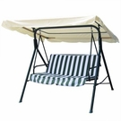 Beige Outdoor Patio Swing Canopy Replacement 5.5 Foot