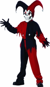 Jester Evil Child Lg 10-12 Costume