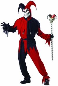 Jester Evil Men 42-44 Costume