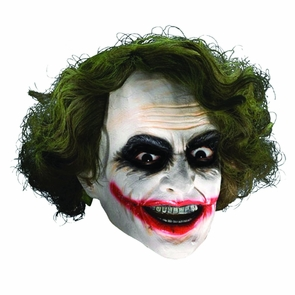 Joker 3/4 Mask With Hair - Dark Knight Trilogy Costume