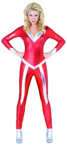 Women's Flame Jumpsuit Costume