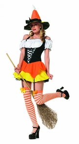 Kandy Korn Sexy Witch 3pc Med Costume