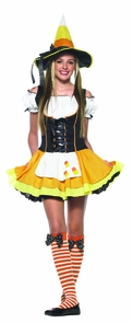 Kandy Korn Witch Teen Sm/mediu Costume