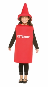 Ketchup Child Costume 7-10 Costume