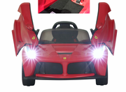 Magic Cars� Ferrari Ride On 12 Volt Kid's RC Ride On Remote Control Car w/Ferrari Floor Mat Bumper To Bumper Warranty