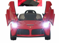 Magic Cars® Ferrari Ride On 12 Volt Kid's RC Ride On Remote Control Car w/Ferrari Floor Mat Bumper To Bumper Warranty