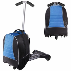 Kids Rolling Travel Luggage Scooter Oxford Bag Blue & Black