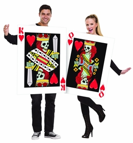 King & Queen of Hearts Couple Costume