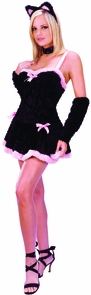 Kiss Me Kitty Adult Sm/md Costume