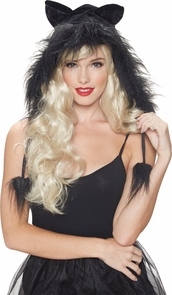 Kit Hood Kitty Black Costume