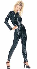 Kittysuit Leatherlike Blk Lg Costume