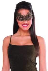 Lace Mask Gold Costume