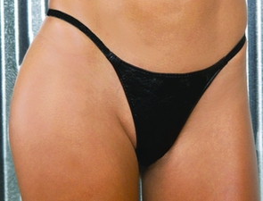 Leather G-string Black O/s Costume