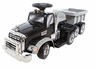 Mack Truck Ride On Car W/Rechargeable Battery Pack And Trailer