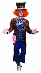 Mad Hatter Deluxe Adult 50-52 Costume