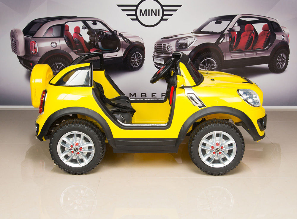 Magic Cars 2 Seater Electric Mini Cooper Ride On Remote Control Rc Car For Kids W Leather Seats