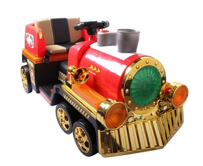 Magic Cars® Backyard Toy Train HUGE Best Electric Powered Ride On Polar RC Train W/Steam Stack For Children