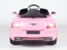 Magic Cars® Big Pink Bentley 12 Volt Ride On Remote Controlled Convertible RC Car