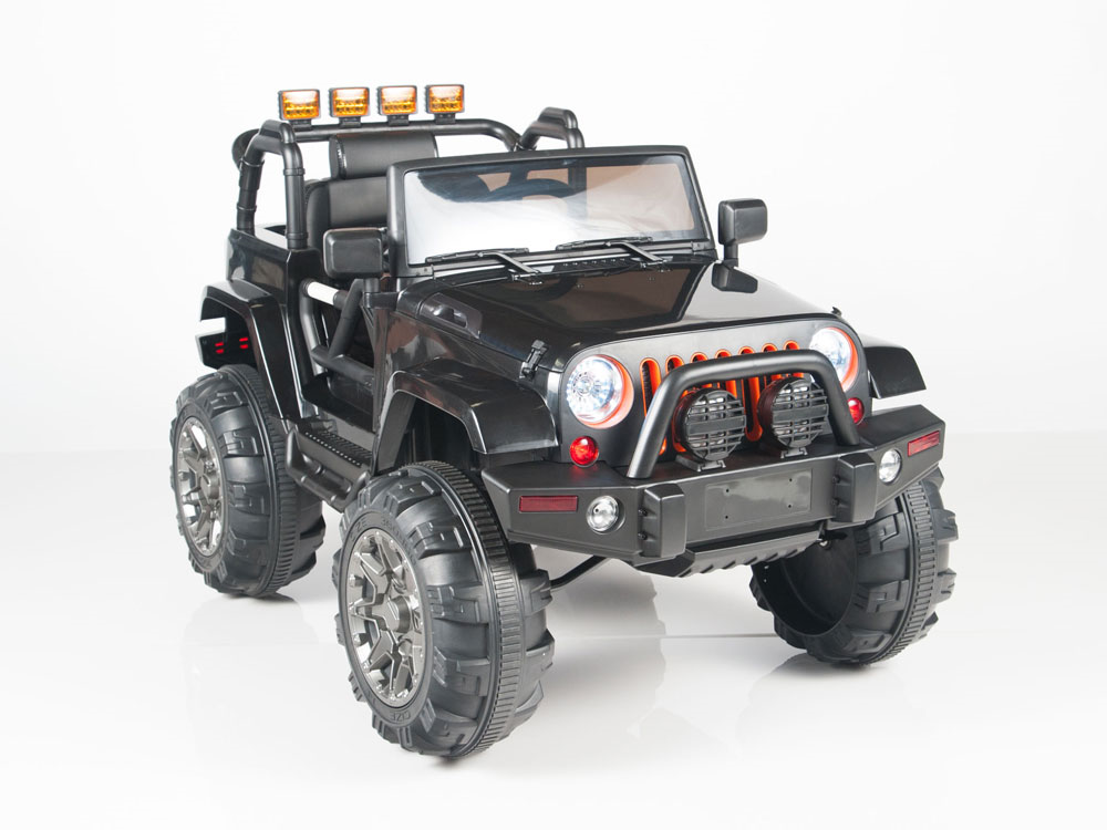 Magic Cars Real Rubber Tires 4x4 Four Wheel Drive Jeep Style Remote Control Electric Ride On Truck For Kids W Warranty