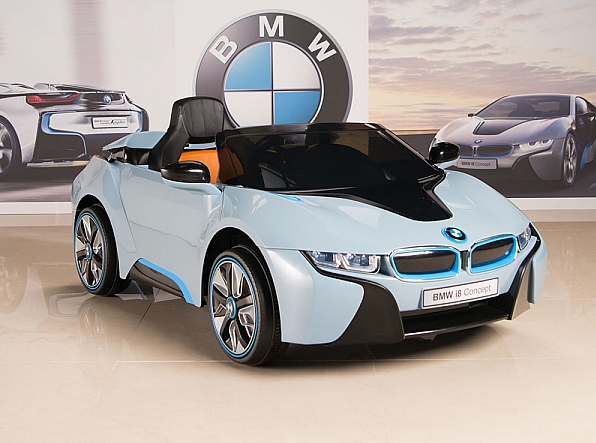 Magic Cars 12 Volt Bmw I8 Ride On Rc Car For Children W Leather Seat Per To Warranty