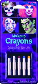 Makeup Crayons 5 Assorted Costume