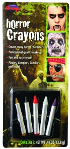 Makeup Crayons Horror Colors Costume