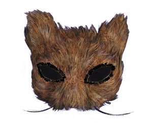 Mask Cat Feather Natural Costume