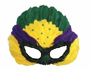 Mask Mardi Gras Sequin Feather Costume