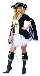 Midnight Musketeer Adlt 10-14 Costume