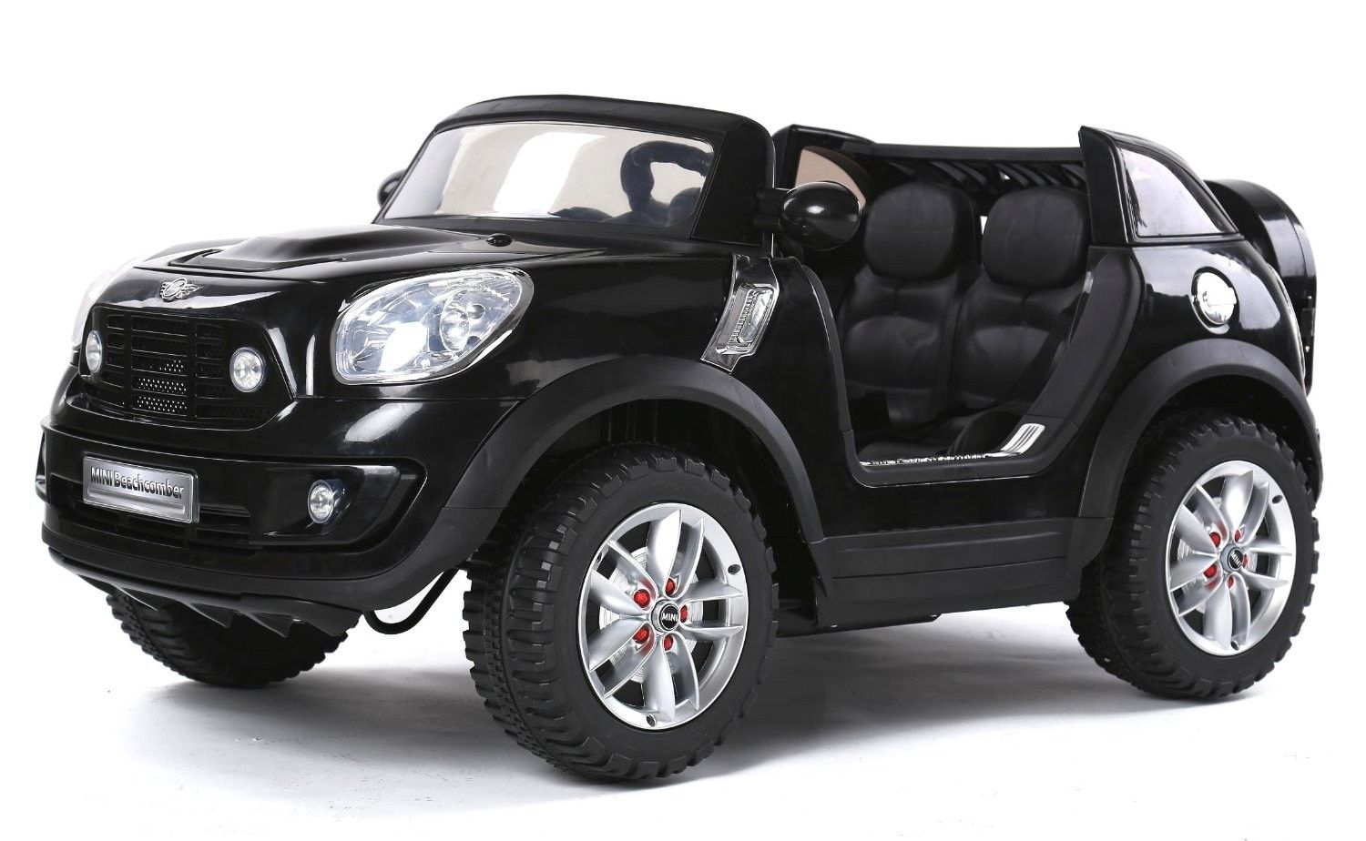 Magic CarsR 2 Seater Electric Mini Cooper Ride On Remote Control RC Car For Kids W Leather Seats