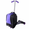 Mini Kids Rolling Luggage Scooter Oxford Bag Purple & Black