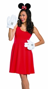 Minnie Mouse Ears Gloves Adult Costume