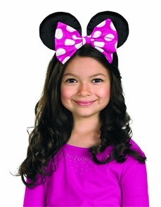 Minnie Mouse Ears W/rev Bow Costume