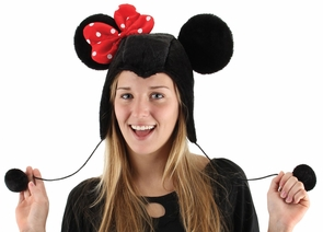 Minnie Mouse Hoodie Hat Costume