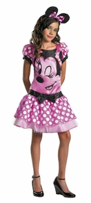 Minnie Mouse Pink Child 10-12 Costume