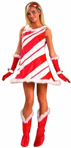 Miss Candy Cane Adult Costume Costume