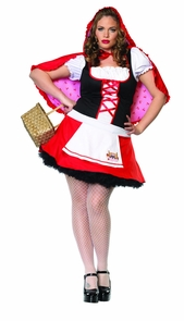 Women's Plus Size Miss Red Costume