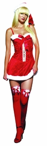 Missy Claus Holiday Dress Sm Costume