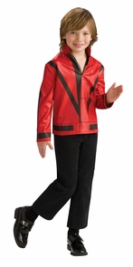 Mj Red Thriller Jckt Child Lg Costume