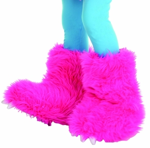 Monster Boots Hot Pink Costume