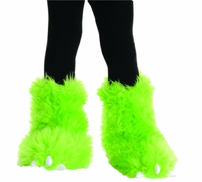 Monster Boots Neon Green Costume