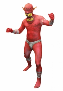 Morph Jaw Dropper Red Adult Md Costume