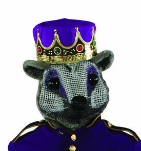 Mouse King Head W Purple Crown Costume