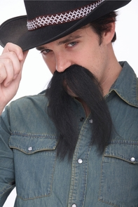Mustache The Western Black Costume