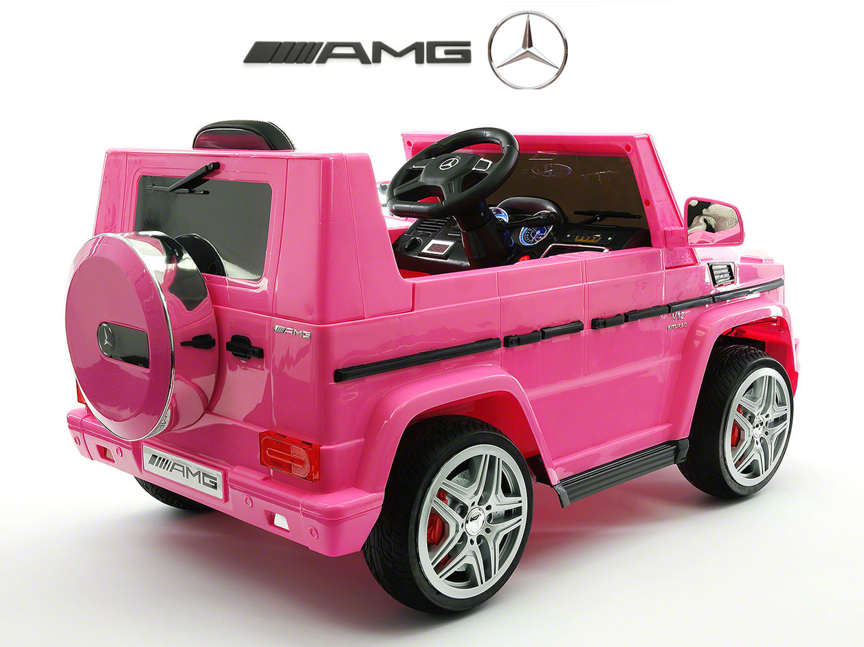 magic cars my first pink electric mercedes g rc ride on car for children